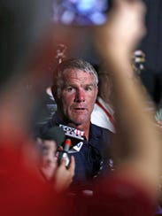 Pro Football Hall of Fame 2016 inductee Brett Favre