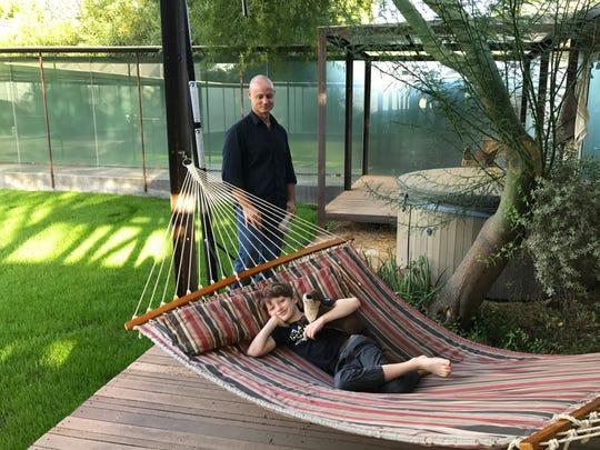 Matthew Salenger and his son, Oscar.