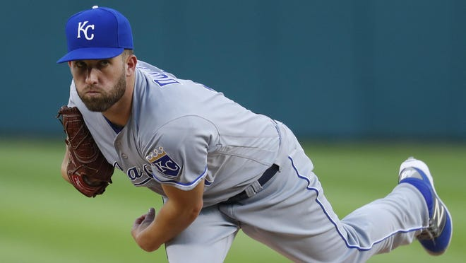 Kansas City Royals' Danny Duffy struck out five while allowing only one run in 7 2/3 innings.