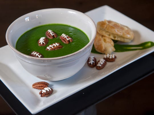Celebrate Bird Day this Thanksgiving. The most extreme, diehard Eagles fans – and you know who you are – could use a little green food dye to give butternut squash soup a hometown hue. Serve the soup with pecans topped with sour cream piped lacing.
