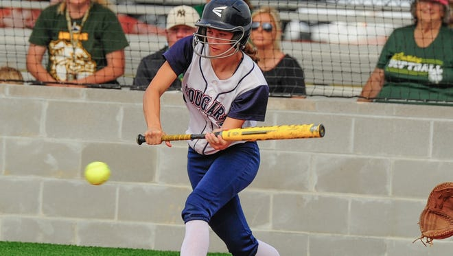 St. Thomas More's Julia Laperouse and the Lady Cougars will enter the Class 4A softball playoffs as the No. 8 seed.