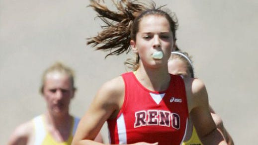 Mel Lawrence, shown during her time at Reno High, qualified for the finals in the 3000-meter steeplechase on Monday at the U.S. Olympic Trials.