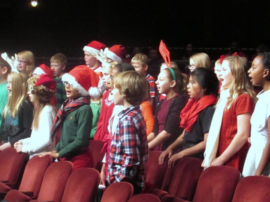 The Arctic League Kids Choir sings a number during Sunday's annual broadcast.