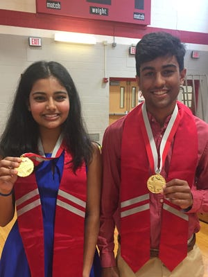 Priya Patel (left) is the Vineland High School Class of 2018 salutatorian. Anuj Patel is the valedictorian.
