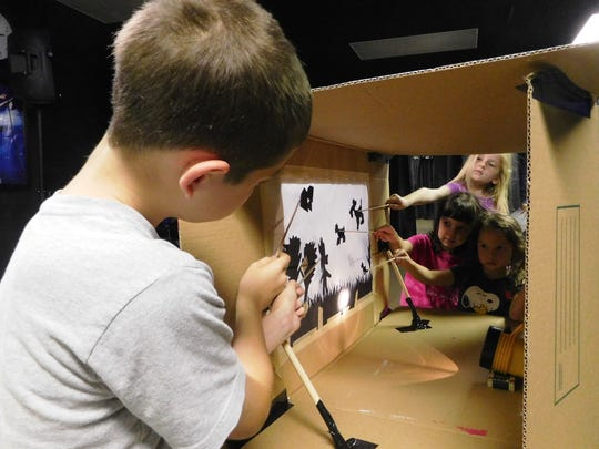 Using nothing but light, paper, and their imagination, campers discover the magic of shadow puppetry.