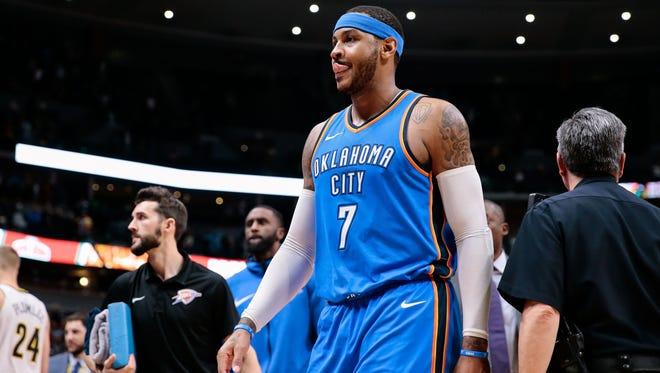 Oklahoma City Thunder forward Carmelo Anthony says the team has to be accountable.