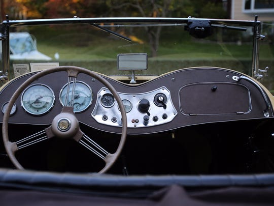 A view of a 1949 MG TD in Ossining. Robert DiRenno