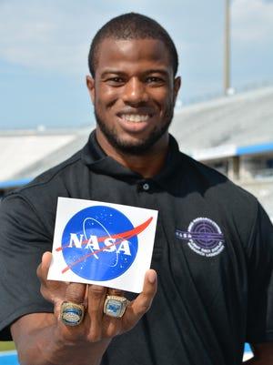 MTSU senior linebacker Leighton Gasque, a grad student in the aerospace program, spent the summer as a NASA intern in California.