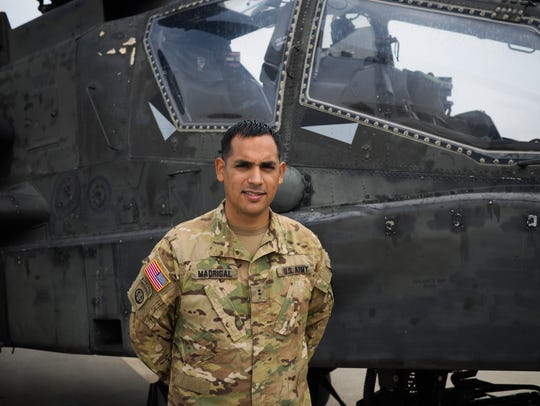 CW2 Fernando Madrigal, an Apache attack helicopter,