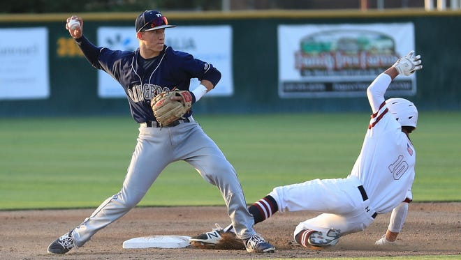 Redwood's Hunter Bryan and the Rangers continue West Yosemite League play this week in a two-game series against Lemoore.