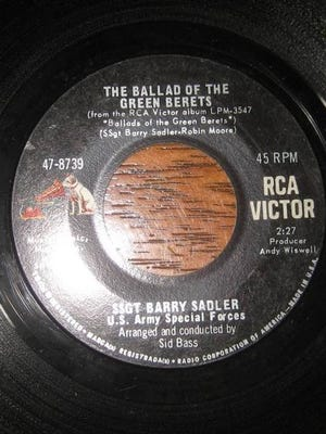 """The Ballad of the Green Berets,"" by Sgt. Barry Sadler."