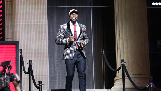 Haason Reddick (Temple) is selected as the No. 13 overall pick to the Arizona Cardinals in the first round the 2017 NFL Draft at the Philadelphia Museum of Art.