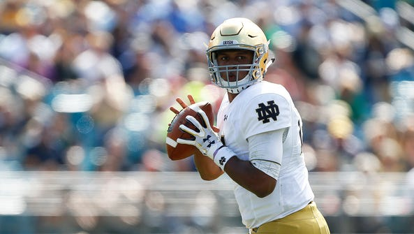 Notre Dame's DeShone Kizer is rated among the top QBs