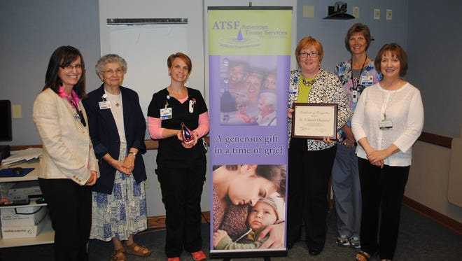 St. Vincent Hospital received the Tissue Donation Recognition Award from the American Tissue Services Foundation for the fourth consecutive year. In 2013, St. Vincent's tissue donor program helped more than 1,600 recipients.