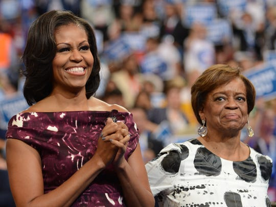 "Michelle Obama (seen with her mother, Marian Robinson) will be in Phoenix to promote her book, ""Becoming."""