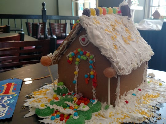 Julia Levesque's gingerbread house won the ages 5-12 division of the Abilene Downtown Association's contest.