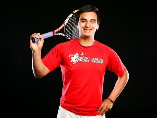 North Salem tennis player Ignacio Ocampo for the Statesman