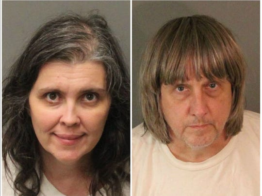 David Allen Turpin and Louise Anna Turpin were arrested Sunday in their home in Perris after Riverside County sheriff deputies found 12 brothers and sisters chained to beds, locked up and malnourished in a dark, foul-smelling home.