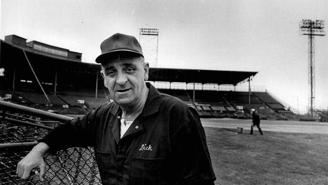 Dick Sierens, worked for the Rochester Red Wings for 51 years, including 41 as head groundskeeper.