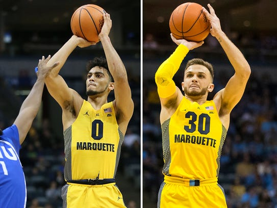 Markus Howard (left) and Andrew Rowsey (right) have
