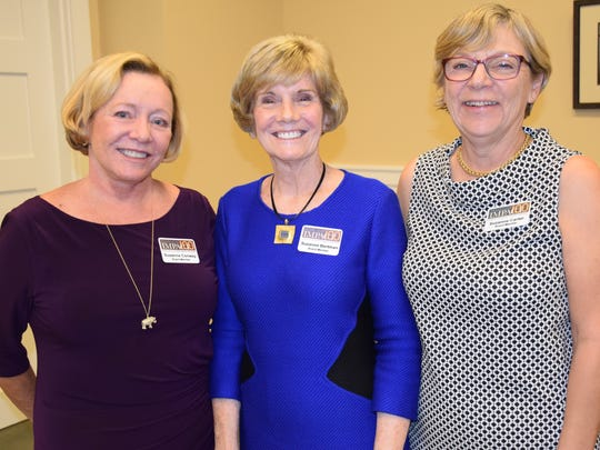 Suzanne Conway, Impact 100 President SuzanneBertman, and Suzanne Carter