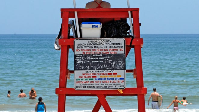Brevard County features 24 lifeguard towers, each covering a 200-yard stretch of beach. Rik Jesse, FLORIDA TODAY