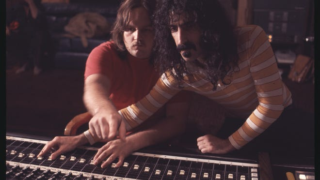 Frank Zappa gets into the recording process with his engineer Kerry McNabb.