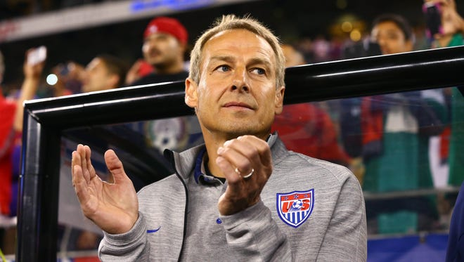 U.S. head coach Jurgen Klinsmann prior to the game against Mexico during a friendly match at University of Phoenix Stadium.