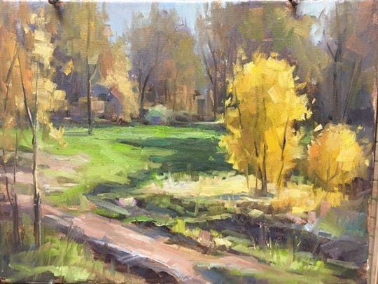 """""""There's Beauty on Highway 16,"""" by Graham artist Beth Prichard will be among her  paintings and drawings on display beginning March 17 at the West End Studio at the Kemp Center for the Arts. The show, titled """"Just Art Plain and Simple,"""" runs through May 13."""