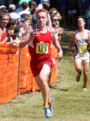 CVU's Baxter Bishop competes at the Essex Invitational on Saturday.