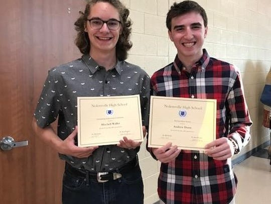 Nolensville High students Mitchell Waller and Andrew Dunn have become the school's first licensed Federal Aviation Administration Certified Remote Pilots.