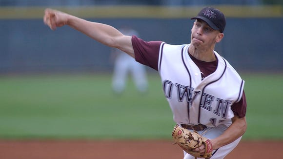 Owen alum Steven Hensley pitched the Warhorses to a 2-A Western Regional championship in 2005.