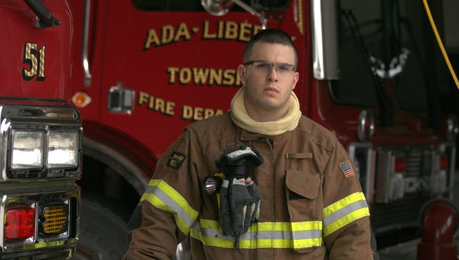 Ohio Northern University junior Max Roberts has been a member of the Ada-Liberty Township Fire Department for a year.