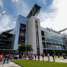 Aug 28, 2014; Houston, TX, USA; General view of fans waiting to enter NRG Stadium before the game between the Houston Texans and the San Francisco 49ers. Mandatory Credit: Kevin Jairaj-USA TODAY Sports