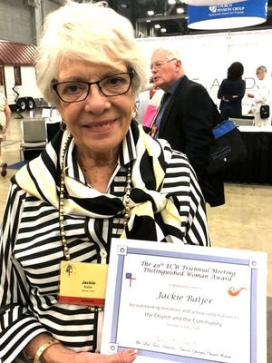 Jackie Batjer was honored at the 49th Episcopal Church Women Triennial meeting.