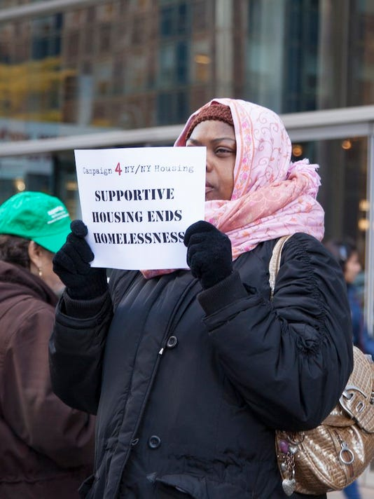 Supportive housing protests