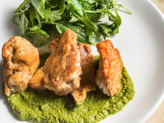 Pan-roasted chicken with salsa verde  Little Octopus