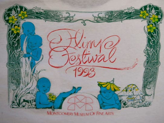 An early t-shirt design for the Flimp Festival held