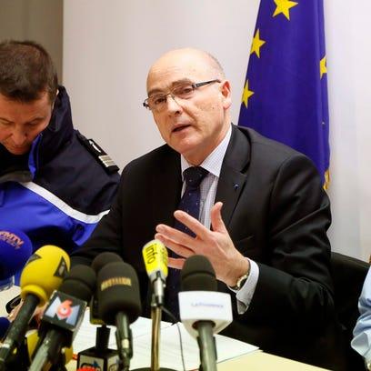 French prosecutor of Marseille Brice Robin, center,