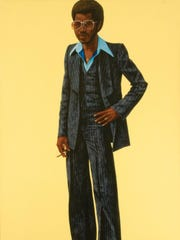 "30 Americans Hendricks Noir: ""Noir""by Connecticut artist Barkley L. Hendricks is one of more than 50 artworks in the ""30 Americans"" exhibition at the DIA."