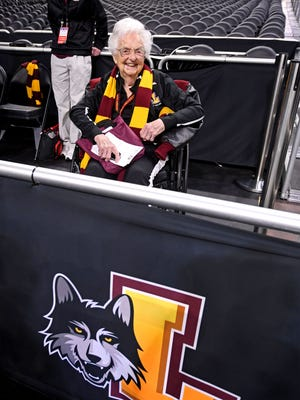 "Loyola-Chicago's Sister Jean  says opposing fans sometimes say "" 'We noticed that you gave Loyola a little more attention than you gave us. And I say, 'well, if you wore maroon and gold, you would, too.' """
