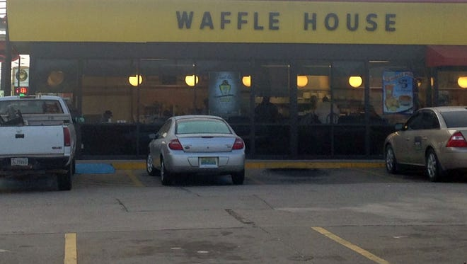 Police say the shooting happened at this Waffle House on West South Boulevard.