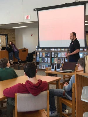 Representatives from area businesses spoke to Mishicot School District students about career readiness during Career and Technical Education month.