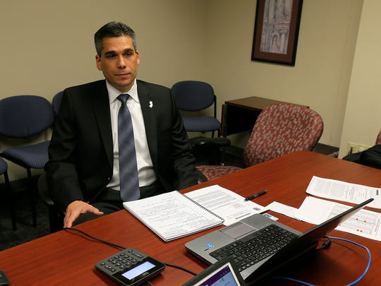 Jonathan D. Larsen, IRS Special Agent in Charge of the Newark field office, talks about scammers and the latest scams that are out there at the IRS office in Freehold Township.