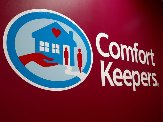 The Comfort Keepers logo is shown at the Mule Road facility in Toms River Thursday, September 14, 2017.