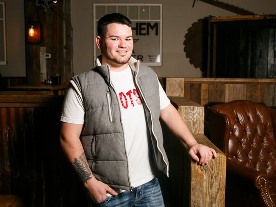 Jerid Lisher, the new owner of Shotskis, is seen on Sunday, Jan. 14, 2018. Lisher has worked in bars and entertainment for eight years and purchased Shotskis with co-owner Jill Thompson in May 2017.