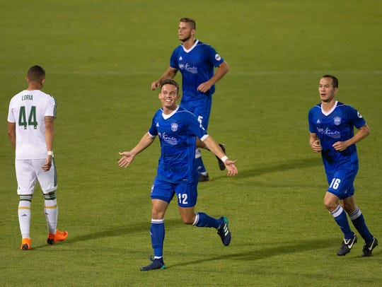 Danny Musovski has five goals for Reno 1868 FC this