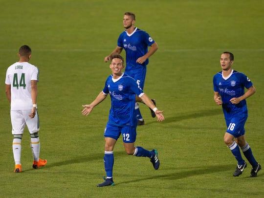 Danny Musovski has five goals for Reno 1868 FC this season.