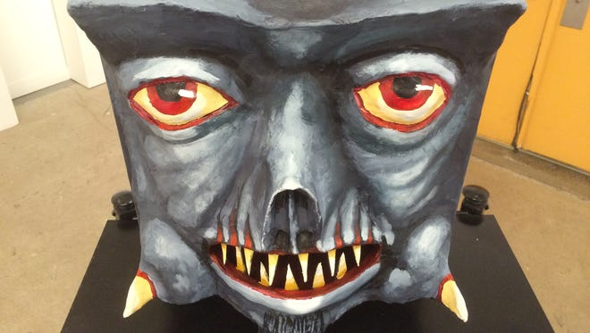"""Robert Waldo Brunelle Jr.'s work """"Mr. Brunelle's Monster Making Machine"""" will be on display through Saturday at """"The Art of Horror"""" exhibit at The S.P.A.C.E. and Backspace Galleries in Burlington."""