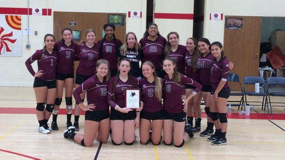 Valhalla poses after beating Irvington in the finals of the Sleepy Hollow tournament on Sept. 9, 2017.